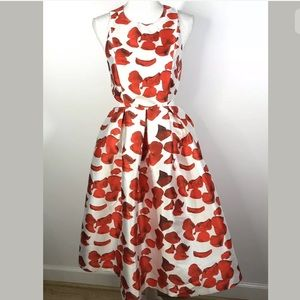 Re Named Size Small Sleeveless Dress Floral Red